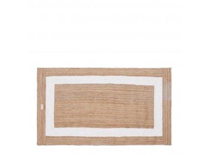 Bavlněný koberec Rivièra Maison Rocat Square 240x140 cm, hnědá/bílá