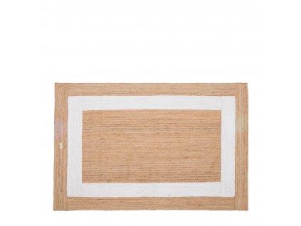 Bavlněný koberec Rivièra Maison Rocat Square 300x200 cm, hnědá/bílá