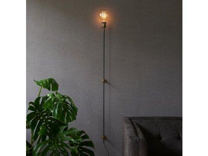 Černé nástěnné svítidloRivièra Maison Hoxton 134 cm