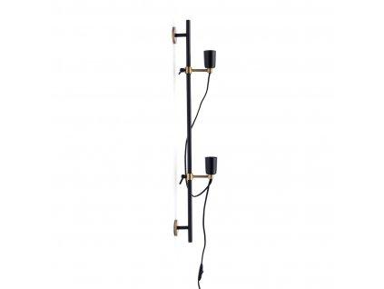 Černé nástěnné svítidloRivièra Maison Hoxton 80 cm, 2 svítidla