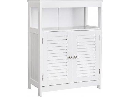 Bílá dřevěná komoda Vasagle White, 60x30x80 cm