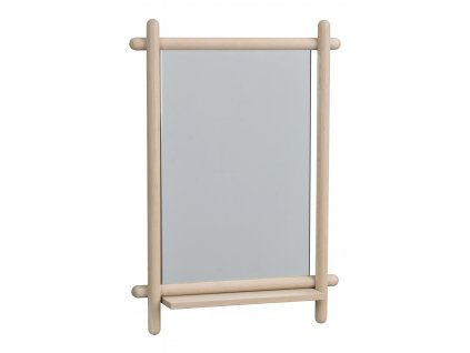 119523, Milford spegel med hylla, vitpigm. ek R