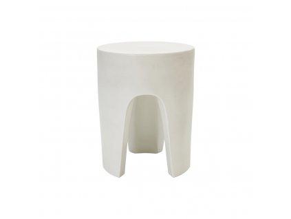 Bílý glazurovaný odkládací stolek By Nord Besshoei