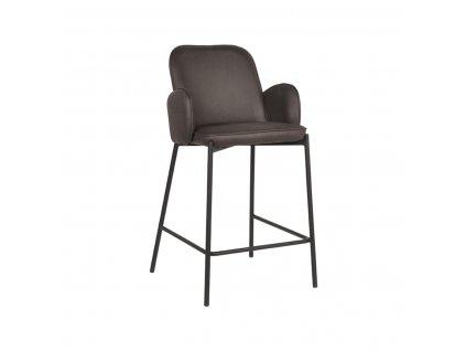 Antracitová barová židle z mikrovlákna LABEL51 Garip