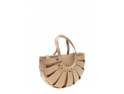 Béžová kožená kabelka Roberta M Duomo
