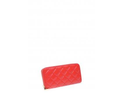Červená kožená peněženka Roberta M Poro
