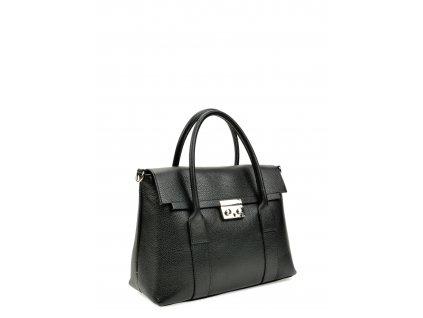 Černá kožená kabelka Roberta M Foggia