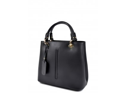 Černá kožená kabelka Roberta M Alma
