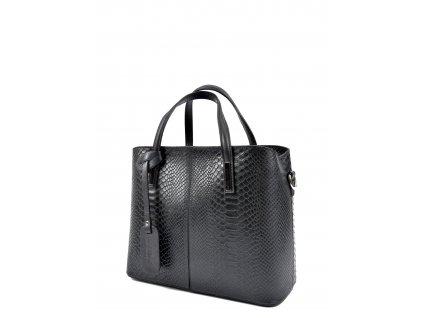 Černá kožená kabelka Roberta M Giada