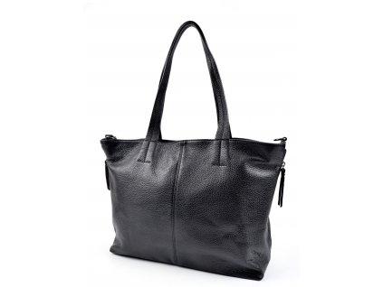 Černá kožená taška Roberta M Harno