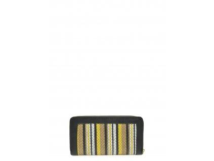 Černá syntetická peněženka Roberta M Pula
