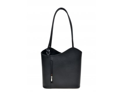Černá kožená kabelka Anna Luchini Duale