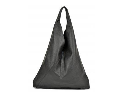 Černá kožená kabelka Anna Luchini Borsa