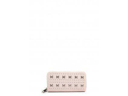 Béžová syntetická peněženka Anna Luchini Attraverso
