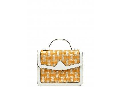 Bílo-žlutá syntetická kabelka Anna Luchini Giaollo