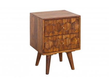 Noční stolek Mysego, 40 cm, sheesham