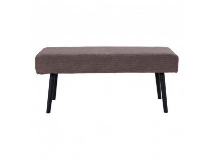 Manšestrová lavice Skroll šedá