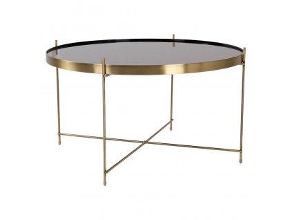 Mosazný konferenční stolek Mattr 70 cm