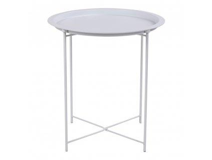 Bílý odkládací stolek Bowl