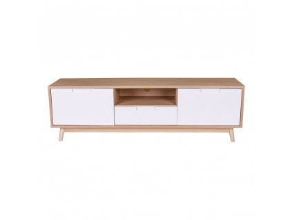 Televizní stolek Verida přírodní/bílá