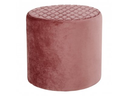 Růžový sametový puf Elki