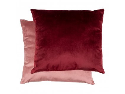 Oboustranný sametový polštář Barna bordó/růžová