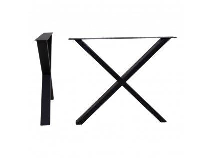 Černé kovové černé nohy pro jídelní stůl Nara