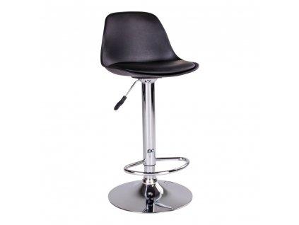 Barová židle Trisa černá/chrom