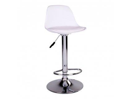 Barová židle Trisa bílá/chrom