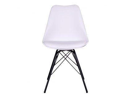 Jídelní židle Nora bílá/černá