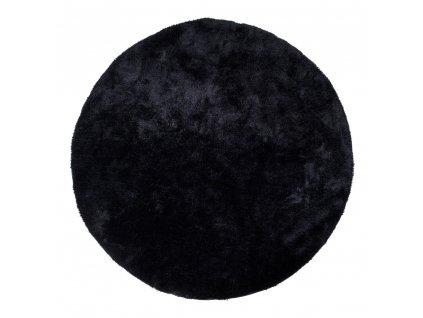 Černý kulatý koberec Faramo 120 cm