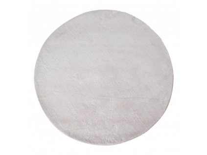 Bílý kulatý koberec Faramo 120 cm
