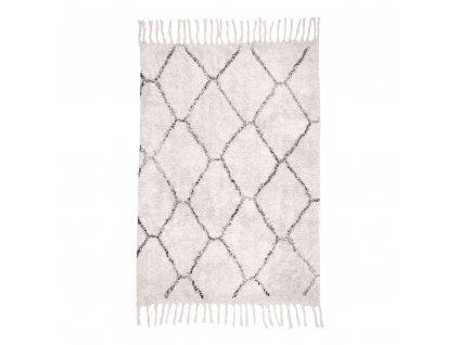 Bílý koberec Gira ze 100% bavlny 90x60 cm