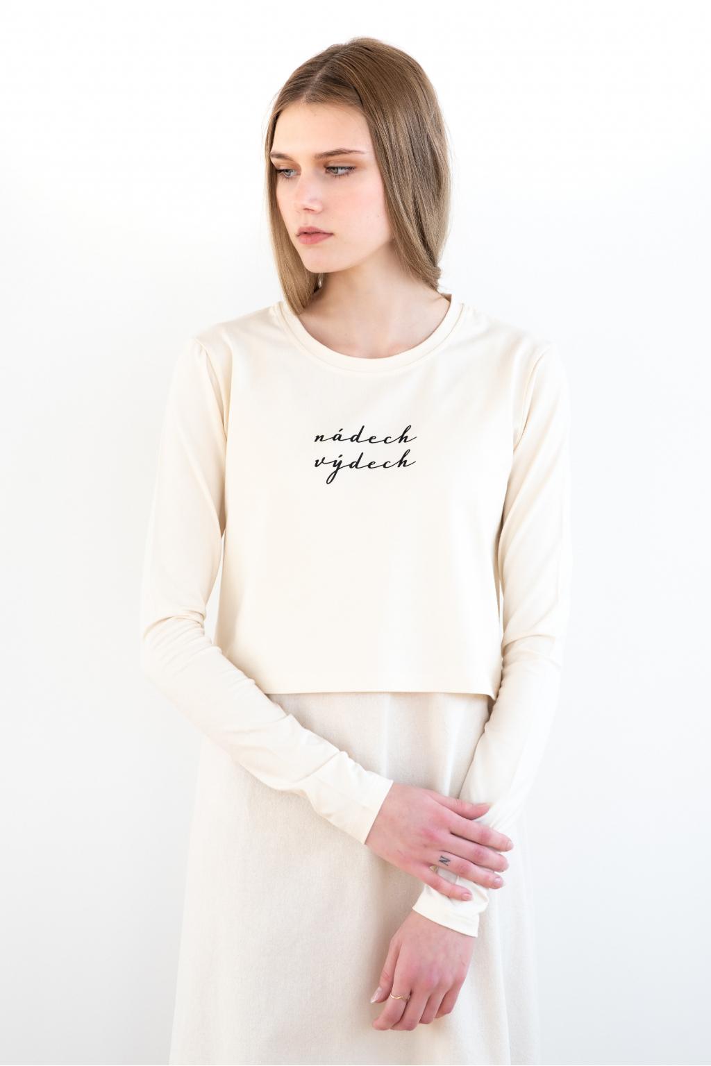 KOUSEK krátké tričko na jógu Nádech výdech