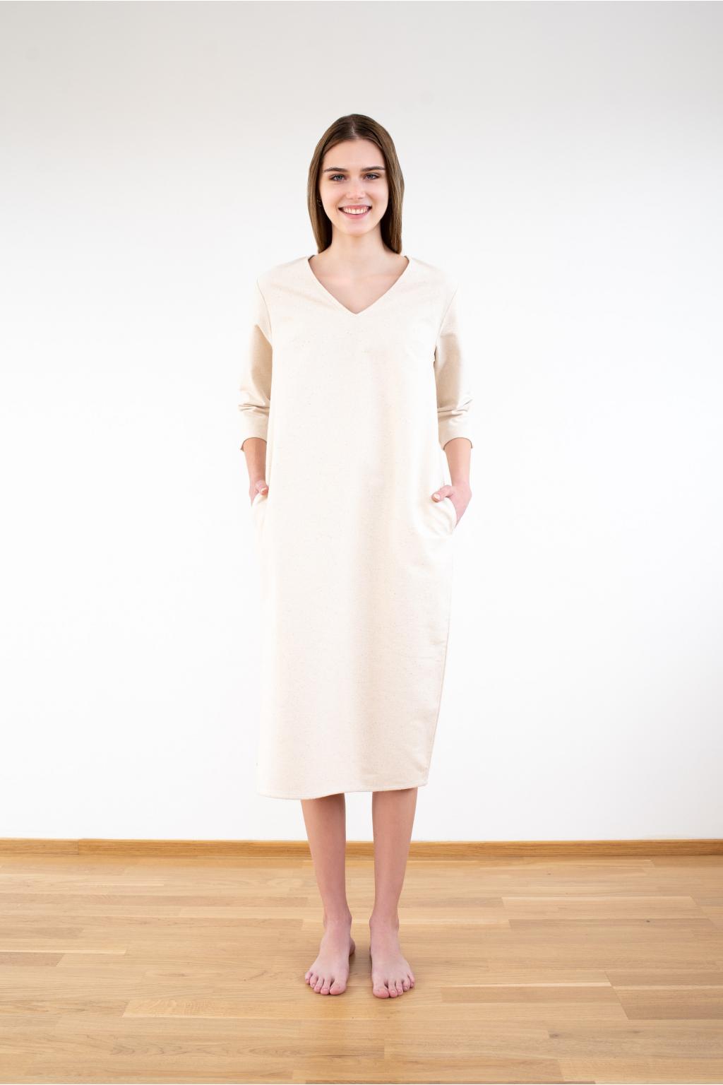 KOUSEK flanelové šaty biobavlna GOTS