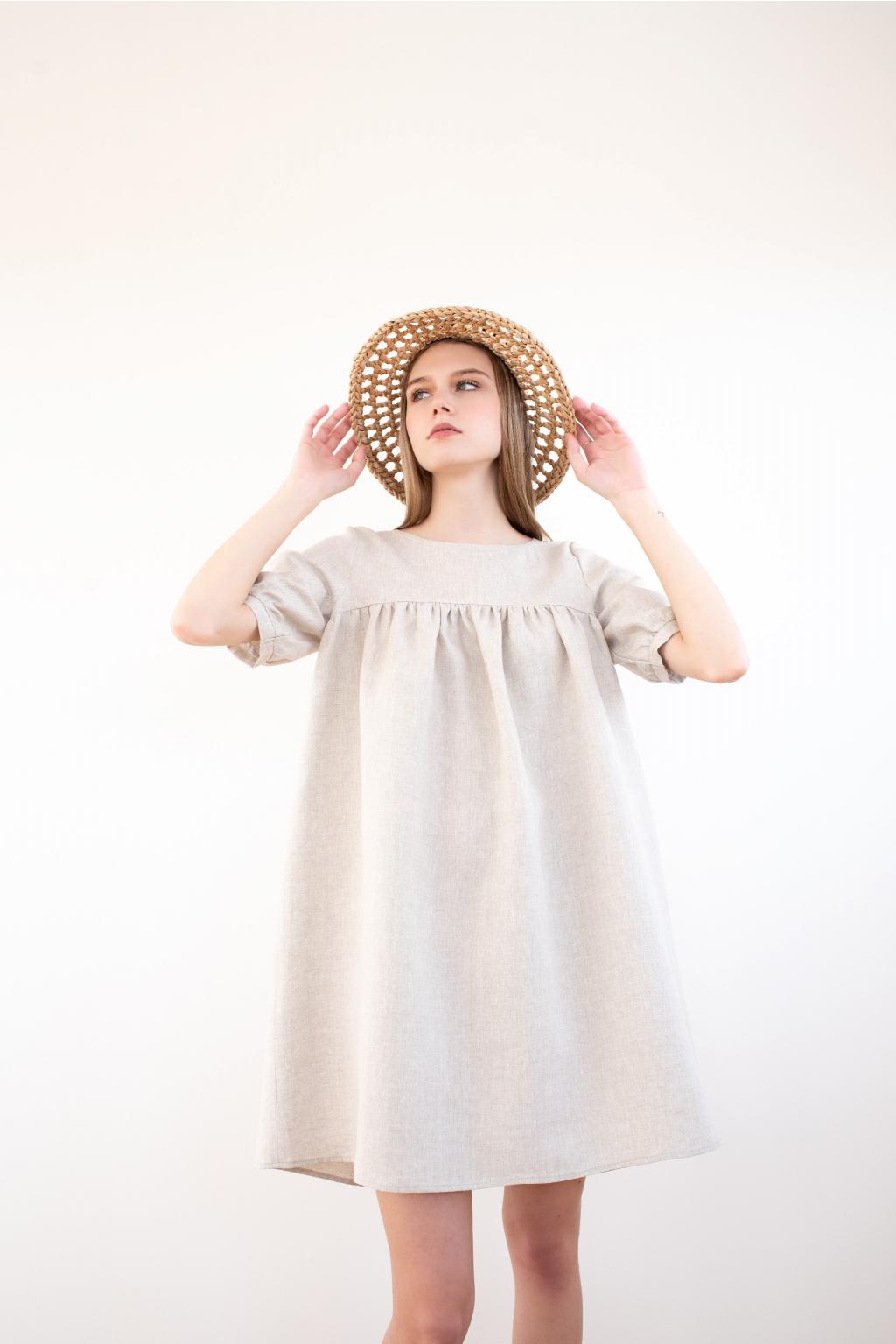 KOUSEK krátké lněné šaty II
