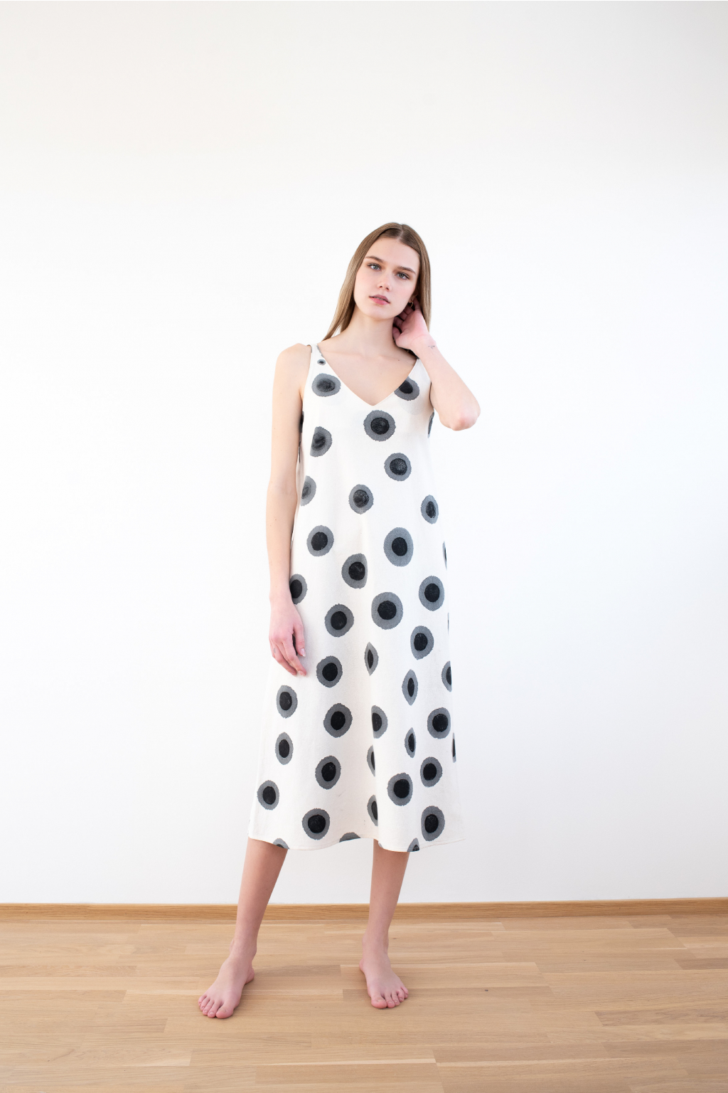 KOUSEK dlouhé šaty biobavlna print
