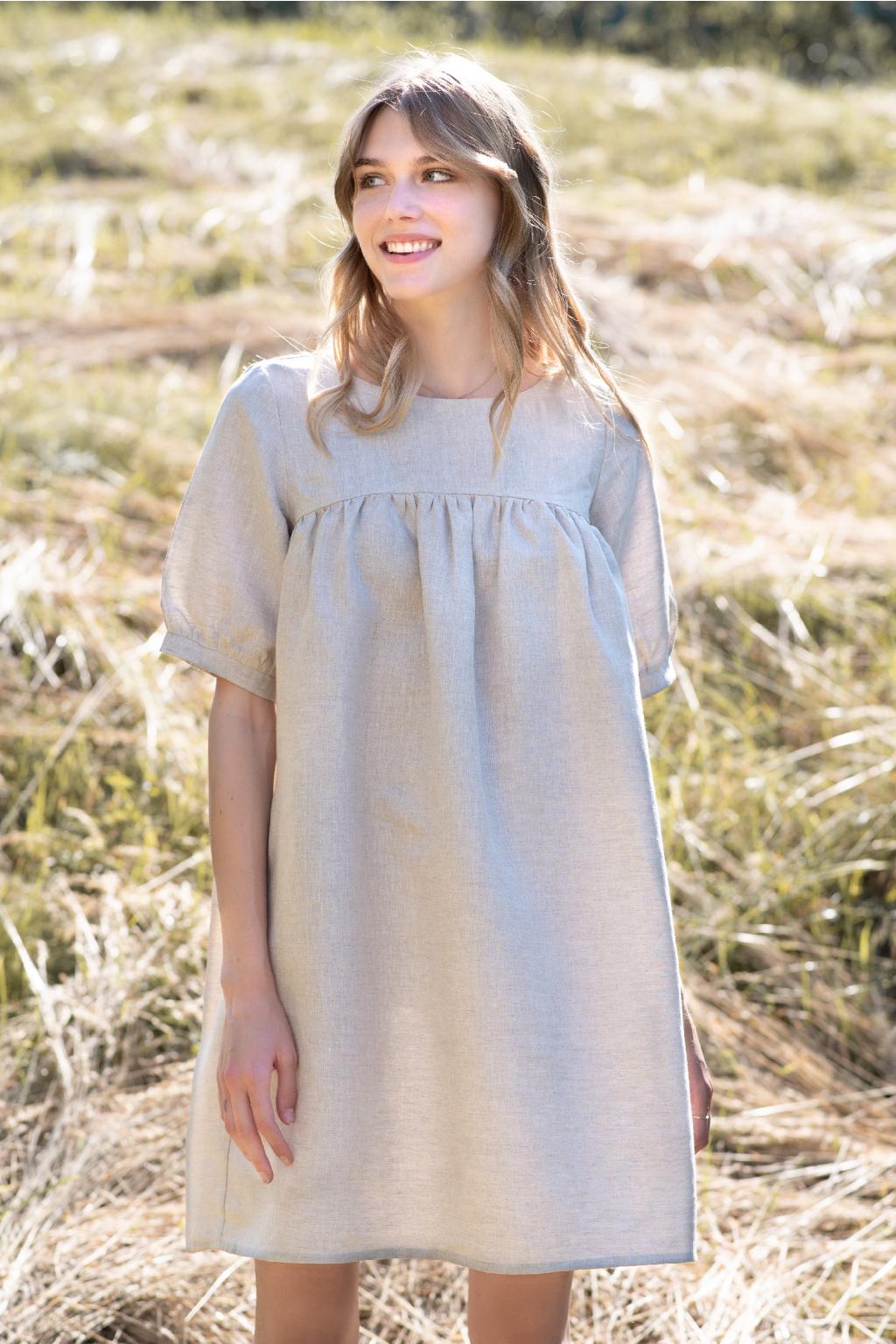 KOUSEK vzdušné lněné šaty