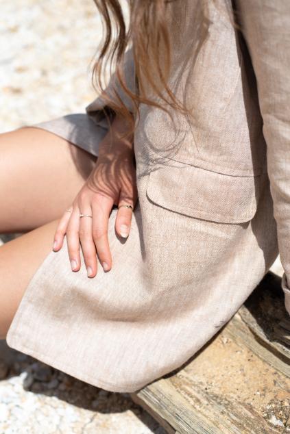 KOUSEK lněné dámské sako oversize
