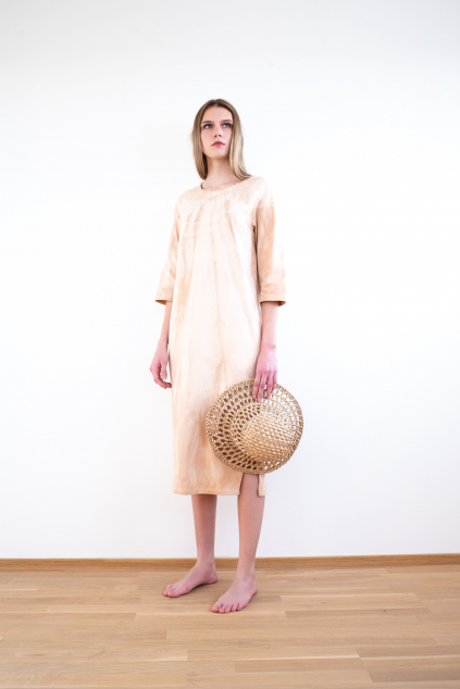 KOUSEK dlouhé batikované šaty biobavlna GOTS
