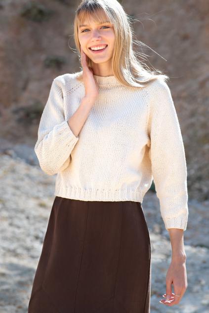 KOUSEK bavlněný recyklovaný svetr