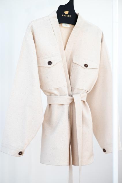 KOUSEK zavinovací košile kabát kimono z biobavlny