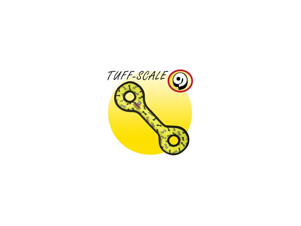 TUFFY Ultimates Tug-O-War Yellow Bones