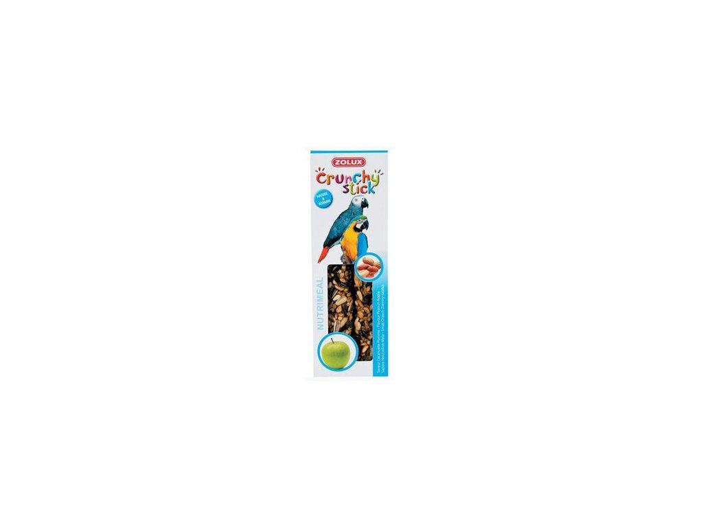 Crunchy Stick Parrot Buráky/Jablko 2ks Zolux