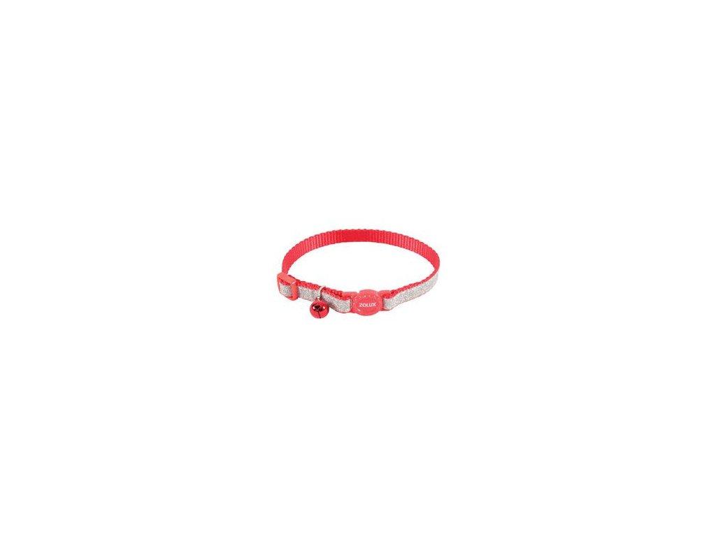 Obojek kočka SHINY nylon červený 10mm/30cm Zolux