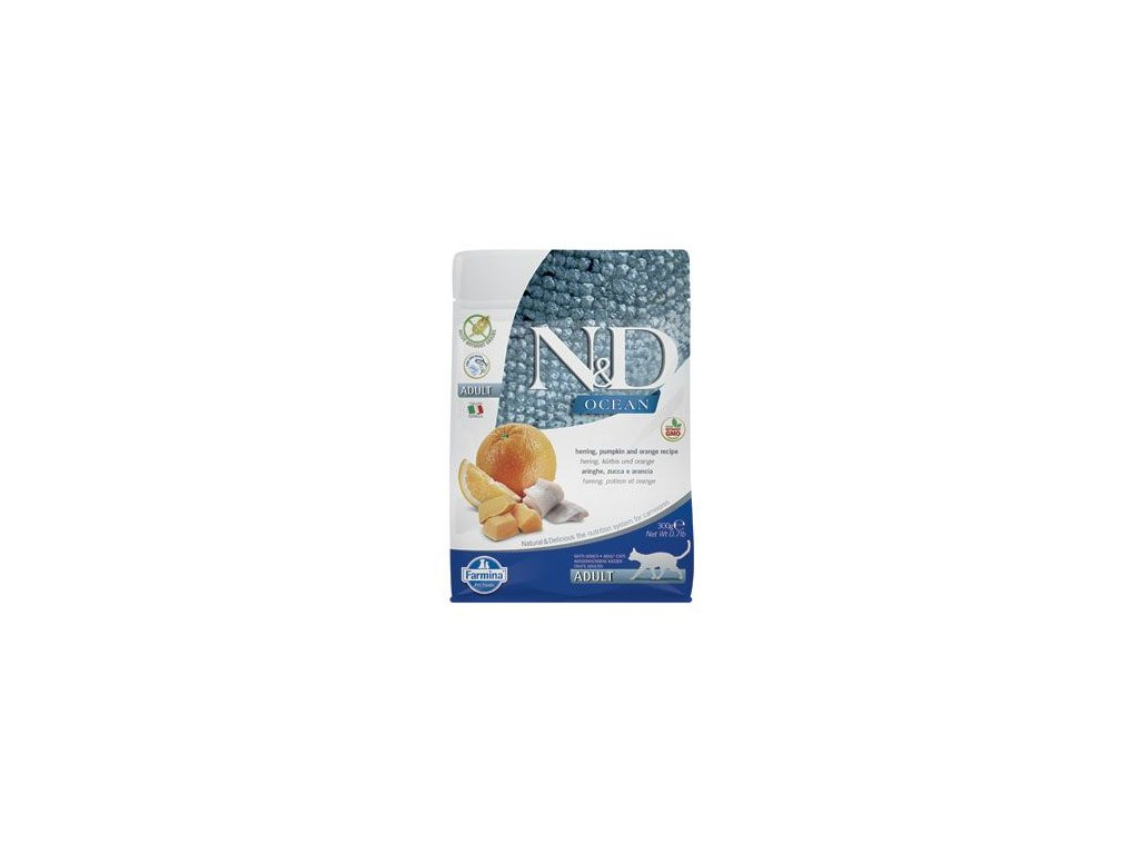 N&D OCEAN CAT Adult Herring, Pumpkin & Orange 300g