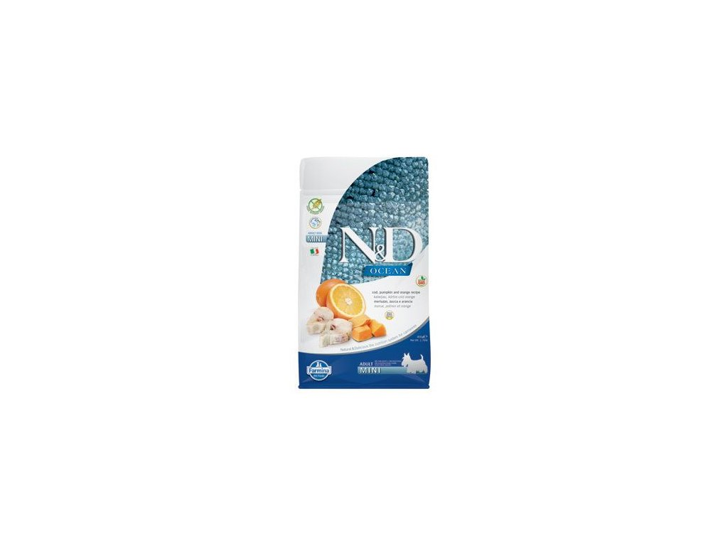 N&D OCEAN DOG Adult Mini Codfish&Pumpkin&Orange 800g