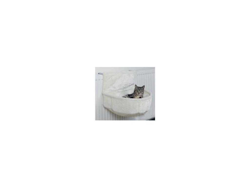Pelech závěsný na topení plyš Bílá 45x13x33cm TR