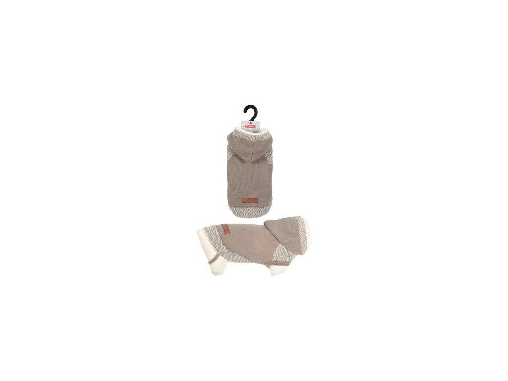 Svetr s kapucí pro psy HIPSTER béžová 35cm Zolux