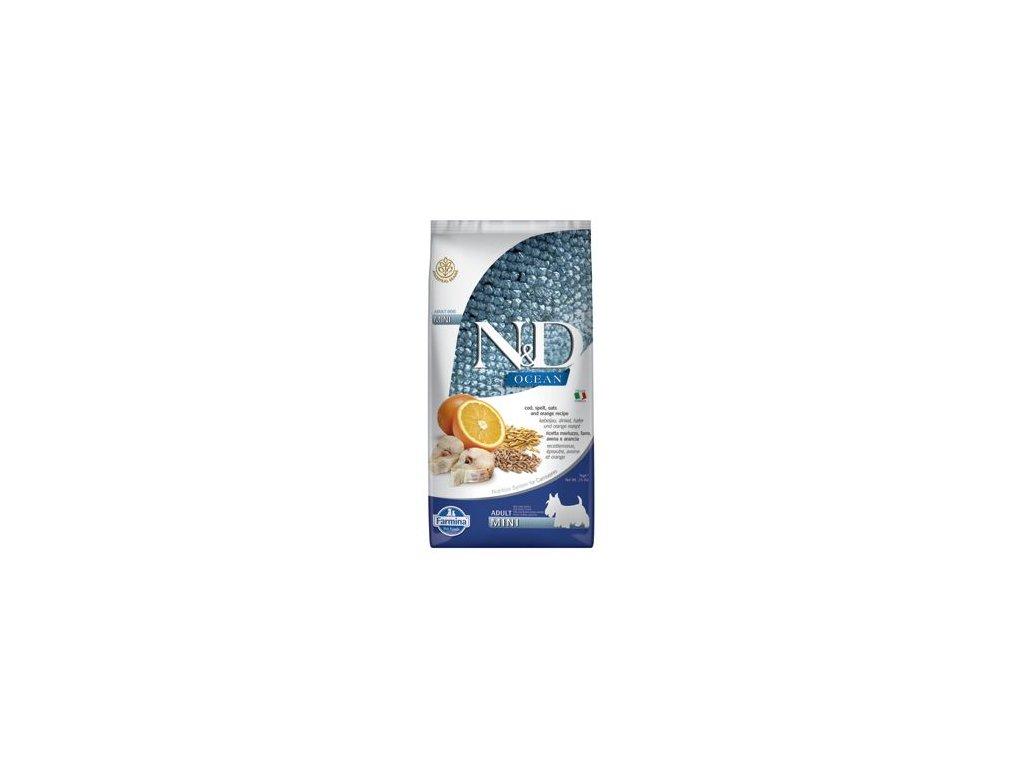 N&D OCEAN DOG LG Adult Mini Codfish & Orange 7kg
